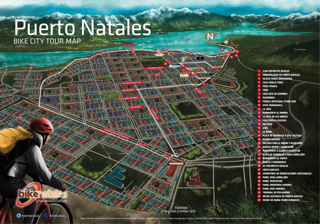 Mapa de Puerto Natales